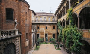 Courtyard of Spirits Magni in the Ambrosiana Library, Milan.