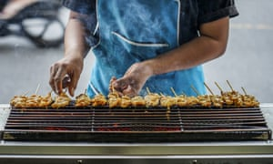 satay chicken at Praeng Bhutorn Road