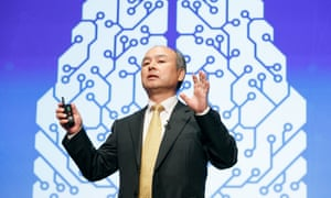 Masayoshi Son, the chief executive of SoftBank which wants to invest in 1,000 AI and Robotics companies over the next decade.