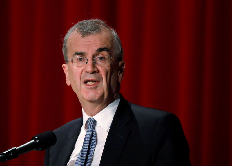 © Reuters. FILE PHOTO: ECB policymaker Villeroy de Galhau, who is also governor of the French central bank, attends the Paris Europlace International Financial Forum in Tokyo