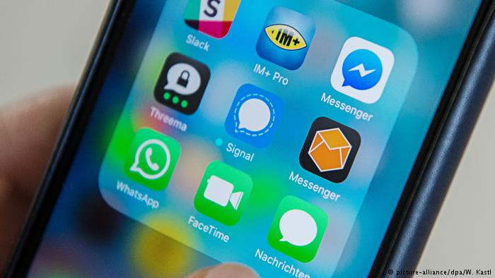 Apps on a smartphone