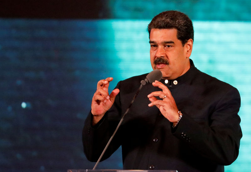 © Reuters. Venezuela's President Maduro attends meeting to present country rebranding in Caracas