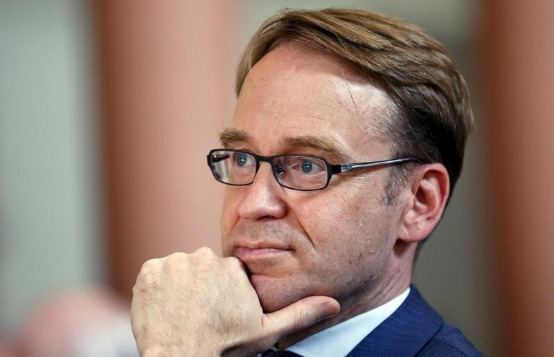 © Reuters.  Weidmann Says Market View on ECB Rates Plausible Amid Weak Data