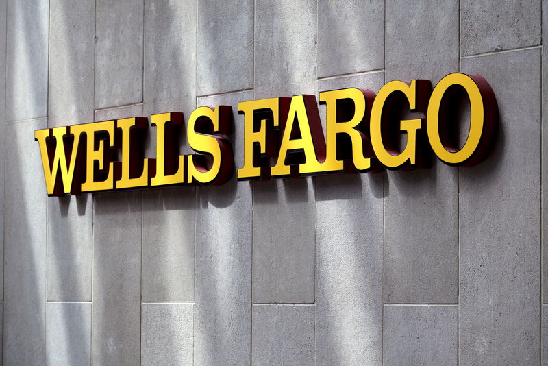 © Reuters. The sign outside the Wells Fargo & Co. bank in downtown Denver