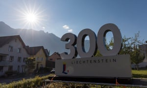 Liechtenstein celebrates its 300 birthday 2019.