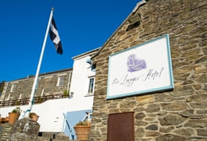 Smuggler's escape: The Lugger Hotel, Portloe, Cornwall.