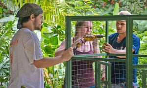 Helping repair a cage at Project Asis, Costa Rica
