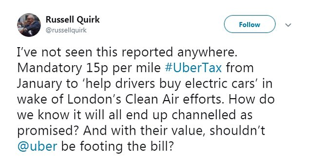 Users called the exercise a 'marketing stunt', as they asked why Uber did not deduct the fee from drivers of non-electric vehicles into of charging users extra