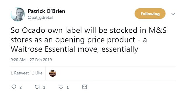 Global Data'sUK Research Director Patrick O'Brien tweeted about the deal as details emerged