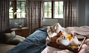 Breakfast in bed: the Manor House, Castle Combe, Cotswolds