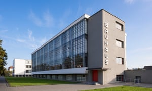 The Bauhaus building, designed by the founder of the Bauhaus School, Walter Gropius, in the city of Dessau.