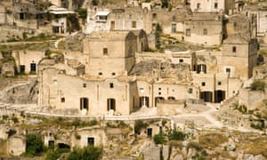 Old cave houses of Matera converted into the Basiliani hotel