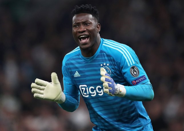 Ajax goalkeeper Andre Onana is wanted by Manchester United