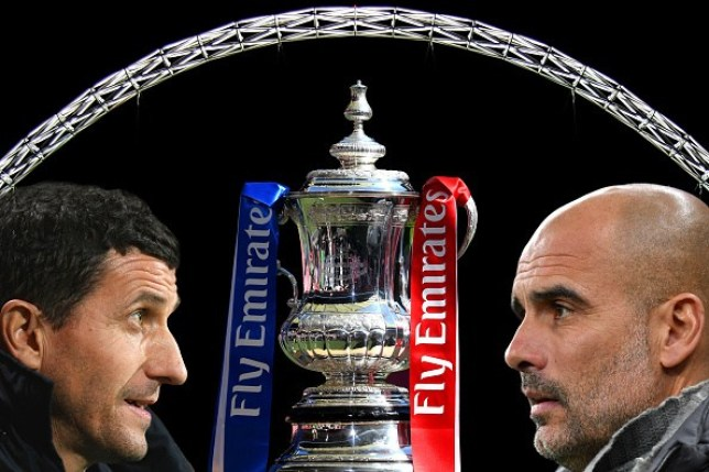 Manchester City will complete an unprecedented domestic treble with a win over Watford at Wembley in the FA Cup final