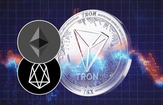 Tron-TRX-Dapps-Users-Exceed-100k-as-Token-Transactions-Surpasses-that-of-Ethereum-and-EOS