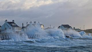 Stormy weather in Wales