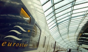 A Eurostar train at Waterloo Station, 2003.