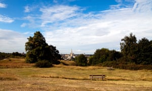 View of Norwich from Mousehold Heath, England, UK.