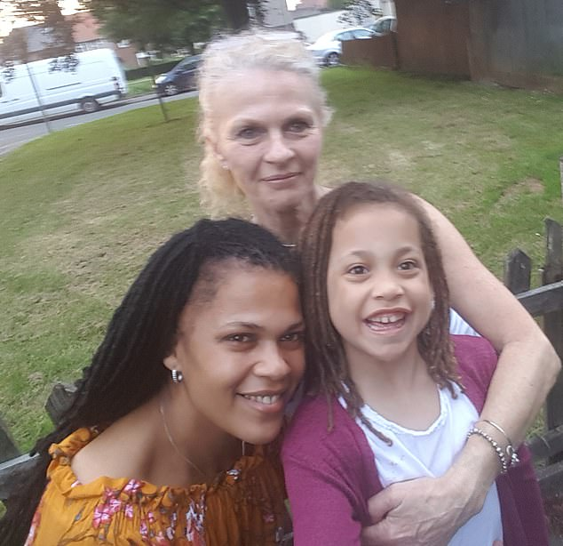 Shiloh, pictured with her mother, Ms Howells, and grandmother, has very fragile lungs with a baseline lung function of around 60 per cent