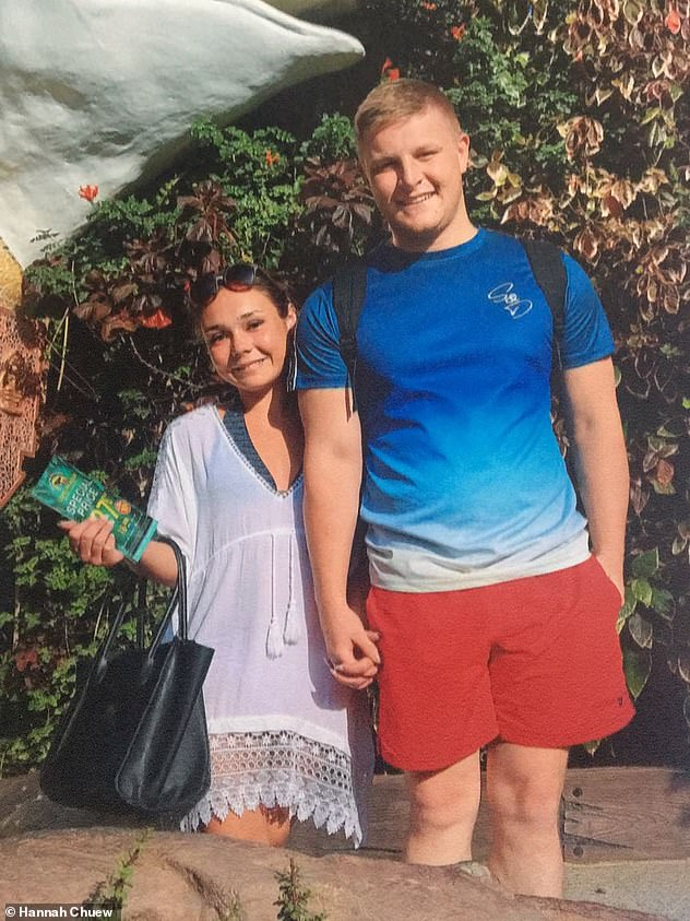 Hannah,who married Nathan Chew, 23 (pictured), in August 2018, isn't afraid to admit that her life with CF, apart from some happy memories, has been 'horrific'