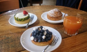 Pastries on a table at Pave, Milan