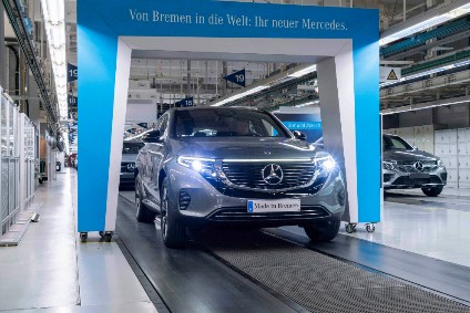 EQC, the first model for EQ, is built at the Bremen plant on the same line as the C-Class, GLC and GLC Coupé