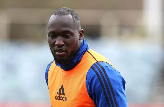 PERTH, AUSTRALIA - JULY 10: Romelu Lukaku of Manchester United in action during a first team training session at WACA on July 10, 2019 in Perth, Australia. (Photo by Matthew Peters/Manchester United via Getty Images)