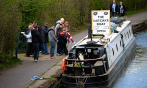 The Oatcake Boat on the canal near the stadium in Stoke on Trent.