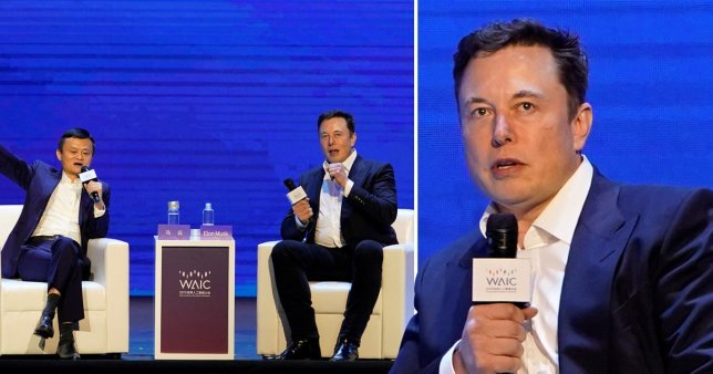 The billionaire revealed his top tips about how to avoid the destruction of human civilisation whilst talking with Alibaba boss Jack Ma (Picture: Reuters)