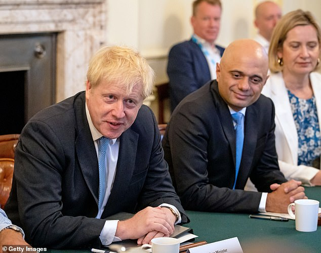 Action men: New Chancellor Sajid Javid has warned that there is 'no time to delay' as the Government and new PM Boris Johnson ramps up its preparations for a no-deal Brexit