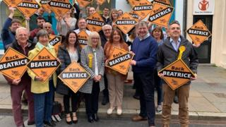 Beatrice Wishart with Lib Dem activists