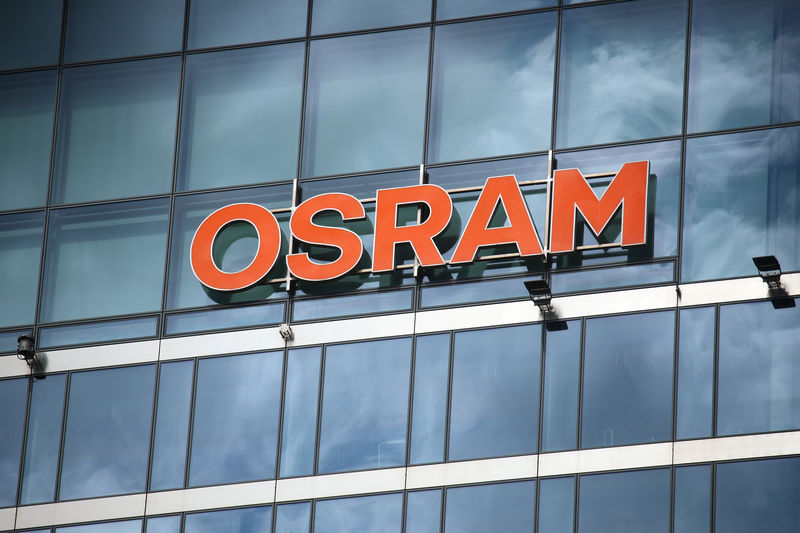 © Reuters. The headquarters of lamp manufacturer Osram is pictured in Munich