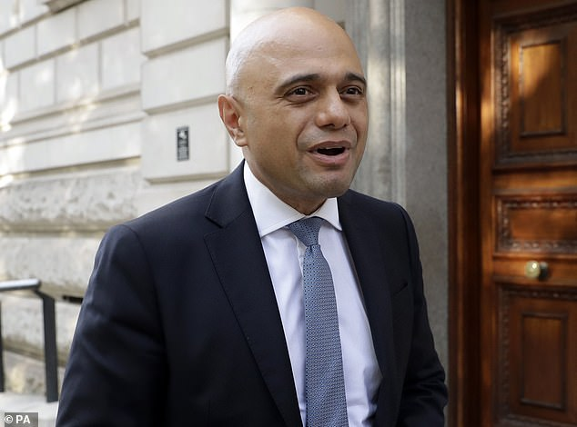 Swift denial: Rumours of a major change to stamp duty, to make homesellers rather than buyers pay the tax, were quickly scotched by Chancellor Sajid Javid