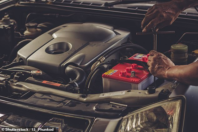 A battery replacement typically should take no more than half an hour, and Halfords charges just £15 to fit a 'standard' battery