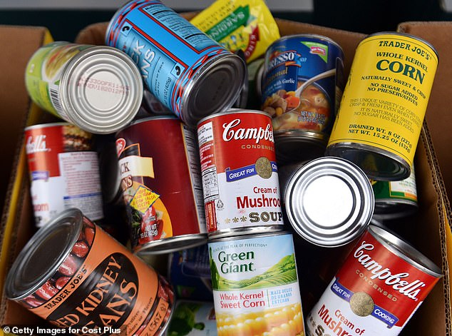 Britons are stocking up on tinned food and dried goods in preparation for Brexit amid fears of shortages