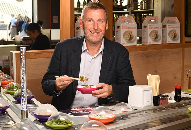 Yo! boss Richard Hodgson, pictured at one of his many sushi restaurants in central London