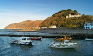 Boats in Lynmouth Harbour, North Devon