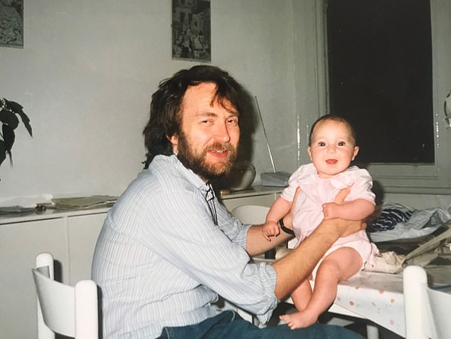 My dad Jeff was diagnosed with a rare form of sinus cancer when I was aged just seven(pictured:Eve as a baby with her father Jeff)