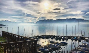 View from a room at LakeView Hotel le Rivage, Lausanne, Switzerland.