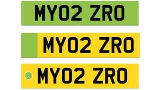Suggested number plate designs