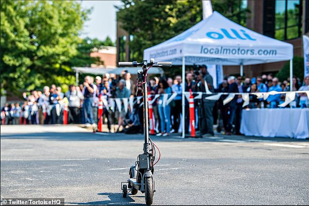 The self-driving scooter technology would drive it back to a charging point or a transport hub if someone has left it somewhere it's not likely to be needed