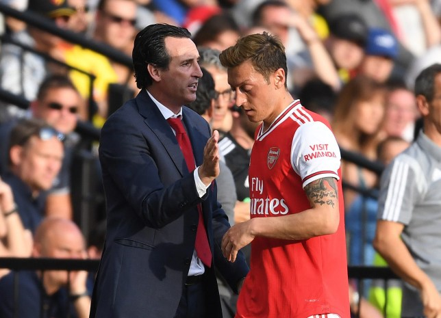 Unai Emery says Mesut Ozil now has a chance of playing more for Arsenal