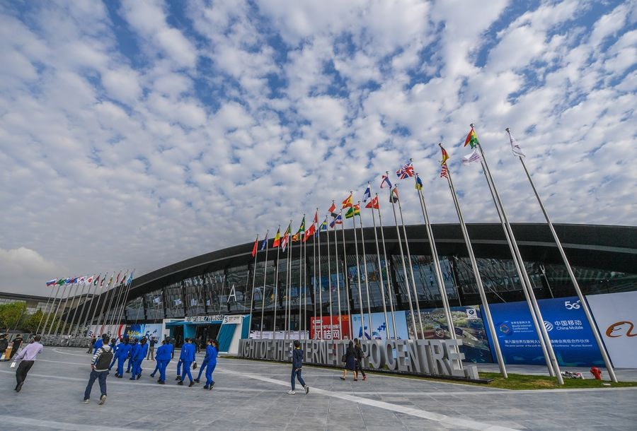 The venue of the Light of Internet Expo is seen in Wuzhen, east China