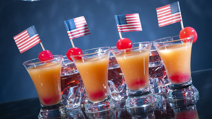 American party cocktails close-up shot