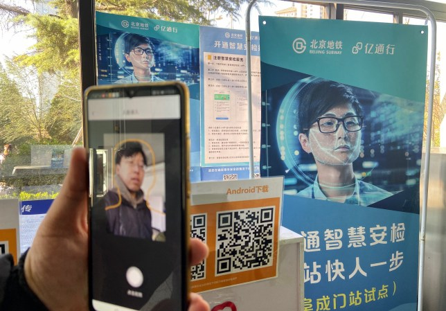 New subway gates with standing facial recognition camers are installed at the Fcuhenmen subway station in Beijing. Pictured: Fuchenmen Station Ref: SPL5132302 281119 NON-EXCLUSIVE Picture by: Xin Jingbao - Imaginechina / SplashNews.com Splash News and Pictures Los Angeles: 310-821-2666 New York: 212-619-2666 London: +44 (0)20 7644 7656 Berlin: +49 175 3764 166 photodesk@splashnews.com World Rights, No Australia Rights, No China Rights, No France Rights, No New Zealand Rights