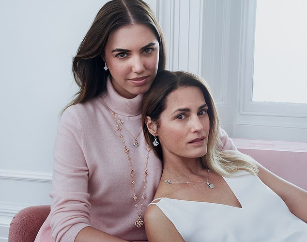 In vogue:The firm, modelled by Amber Le Bon and her mother Yasmin (pictured), hopes to build a reputation as a specialist in fancy coloured diamonds