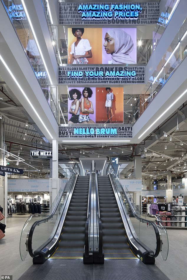 Ther world's biggest Primark store (pictured) is in Birmingham