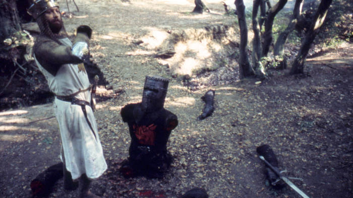 R00C79 Monty Python and the Holy Grail  Year : 1975 UK Director : Terry Gilliam Terry Jones Graham Chapman. Image shot 1975. Exact date unknown.