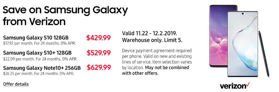 Black Friday Galaxy S10 deals, Black Friday Note 10 deals, Black Friday Galaxy smartphone sales,