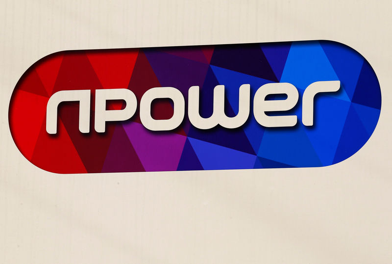 © Reuters. A sign hangs outside an npower building in Solihull